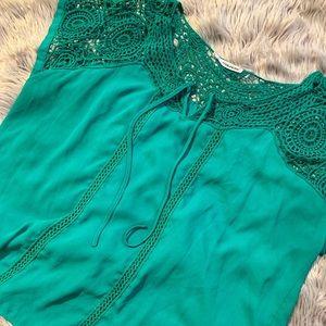 MAURICE'S Green Crochet Top